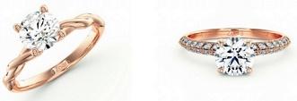 Zoara 玫瑰金鑽石戒指